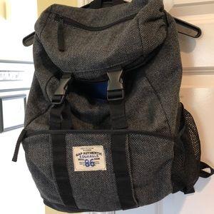 Gap Kids Durable Backpack Grey/Black Blue Interior